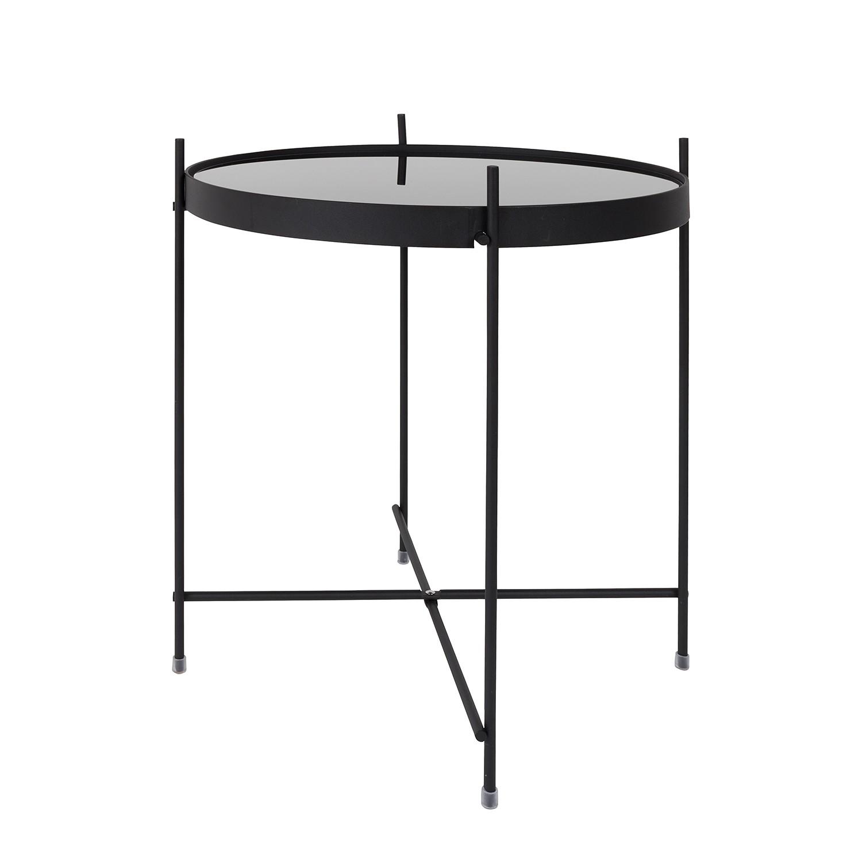 Tavolino Cupid - Ferro/Vetro Nero, Zuiver