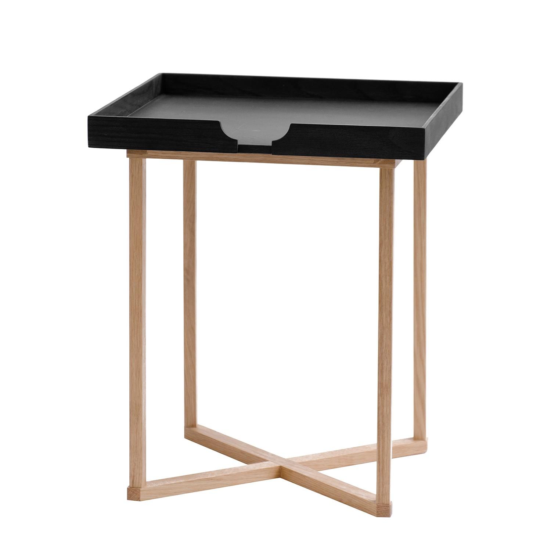 Tavolino Damien II - Legno massello di quercia - Quercia/Nero, Wireworks