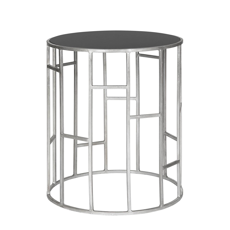 Tavolino Andrea - Ferro/Vetro Color argento/Nero, Safavieh