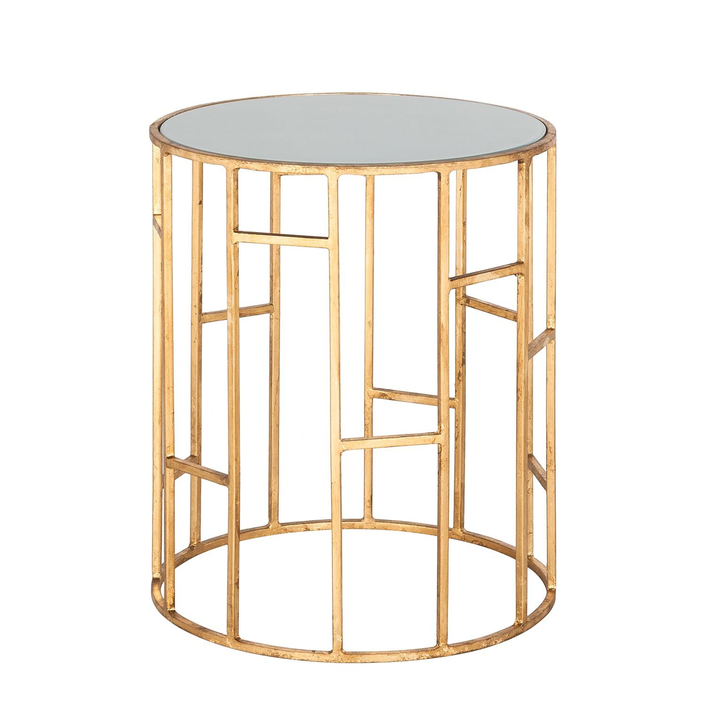 Tavolino Doreen - Ferro color oro/Vetro bianco, Safavieh