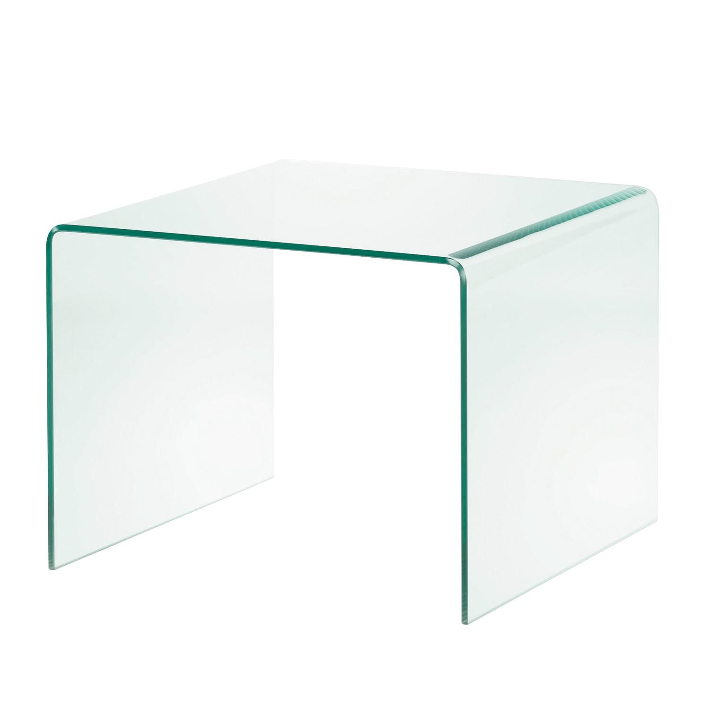 Table d'appoint Drap - Verre - 60 x 60 cm, Fredriks