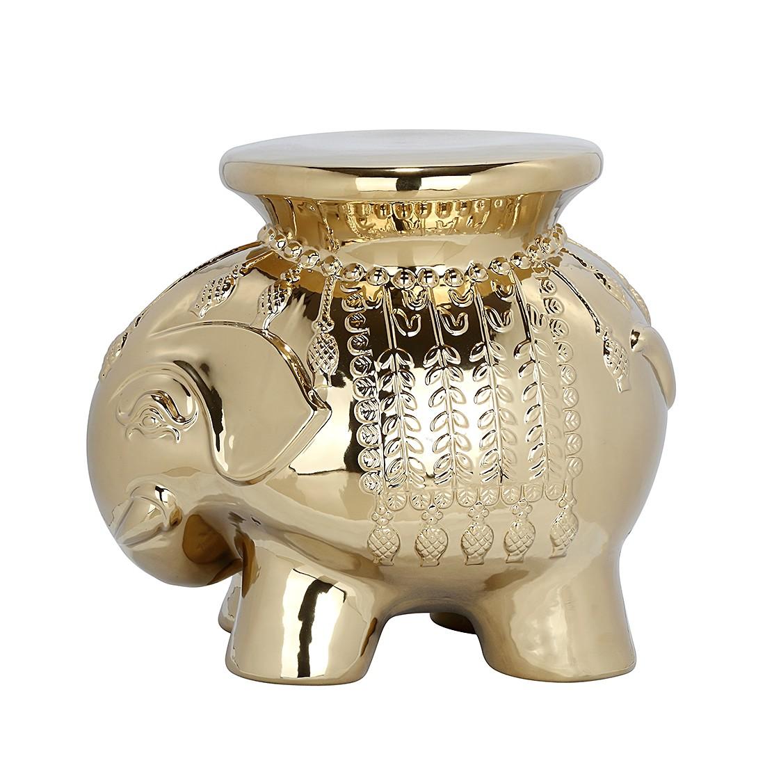 """Gartenbeistelltisch """"Elephant"""" aus Keramik, gold (Kopie)"""