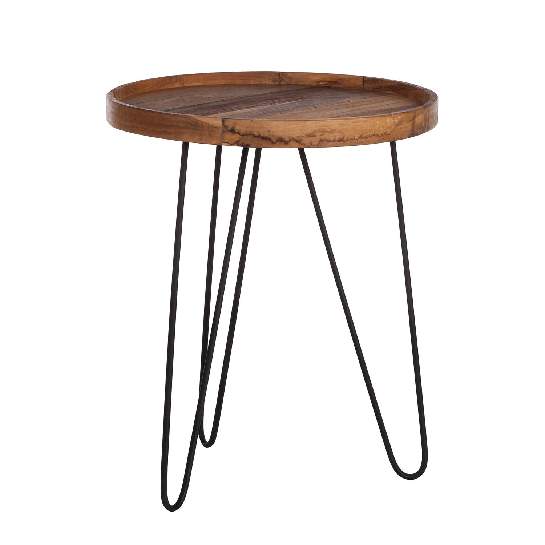 Tavolino Gimont - legno massello di teak / metallo - 50 x 50 cm, ars manufacti