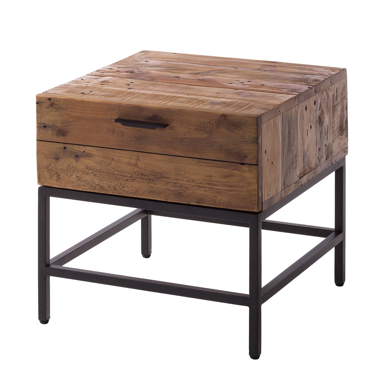 Bijzettafel Grasby - oud pijnboomhout/metaal - donker pijnboomhout/zwart, ars manufacti