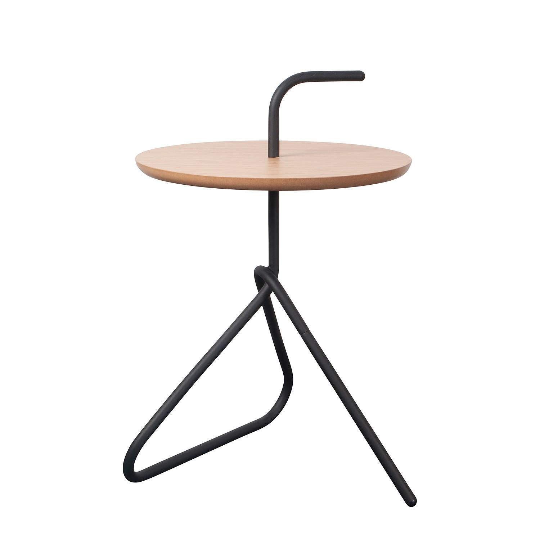 Table d'appoint Handle - Noir / Beige, Zuiver