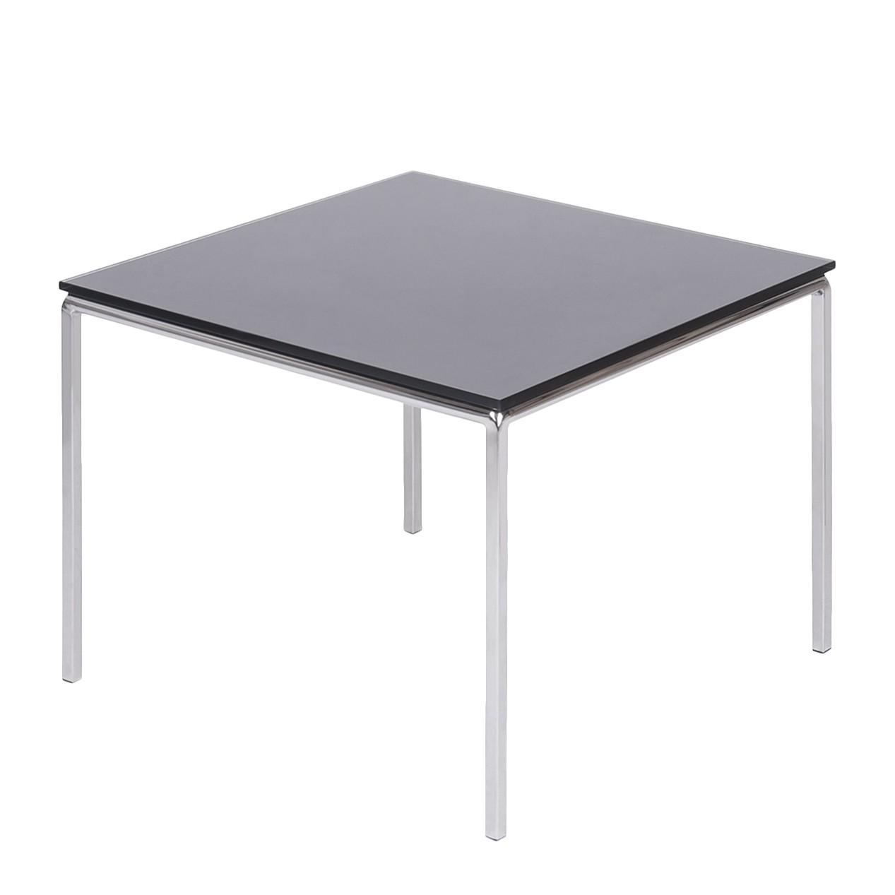 Table d'appoint Julian - Verre / Acier inoxydable - Noir, Fredriks