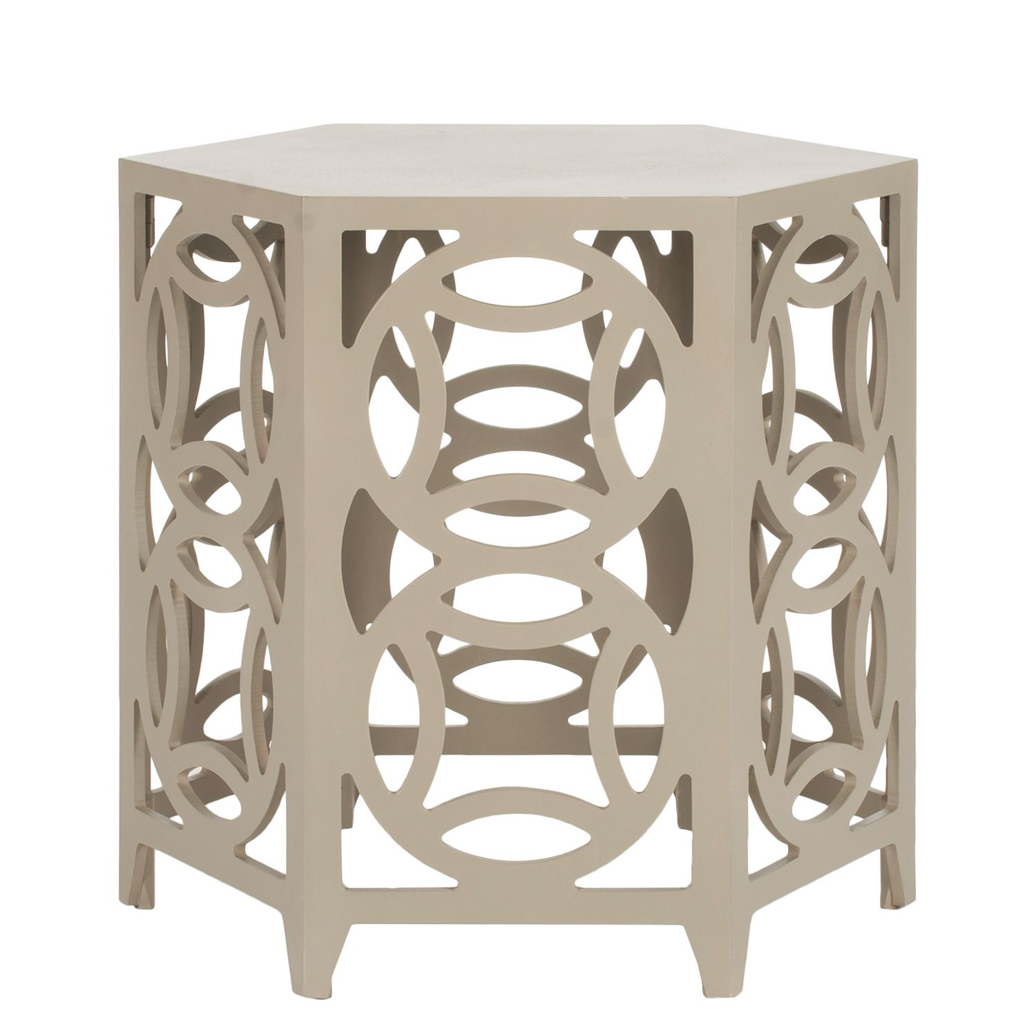 Table d'appoint Lafra - Bayur massif - Beige, Safavieh