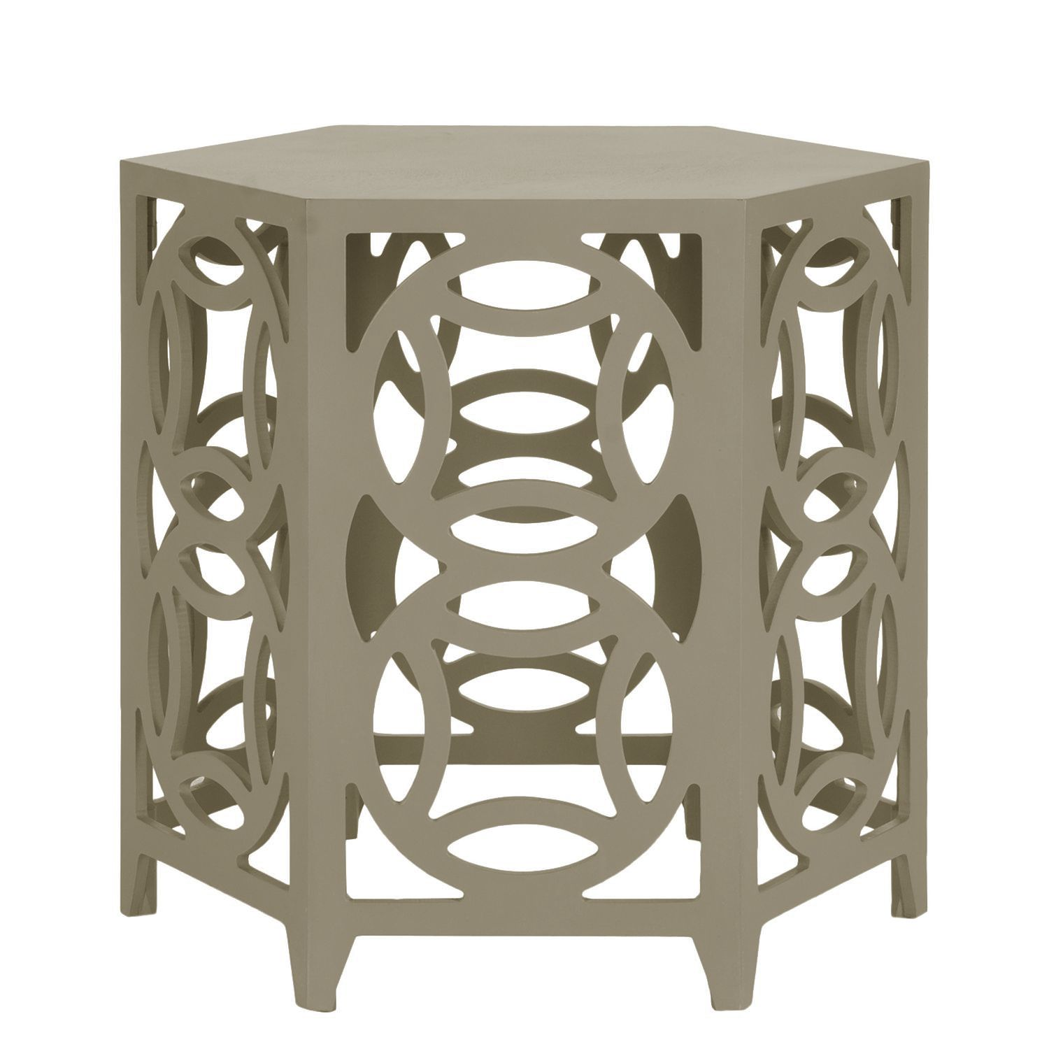 Table d'appoint Lafra - Bayur massif - Taupe, Safavieh