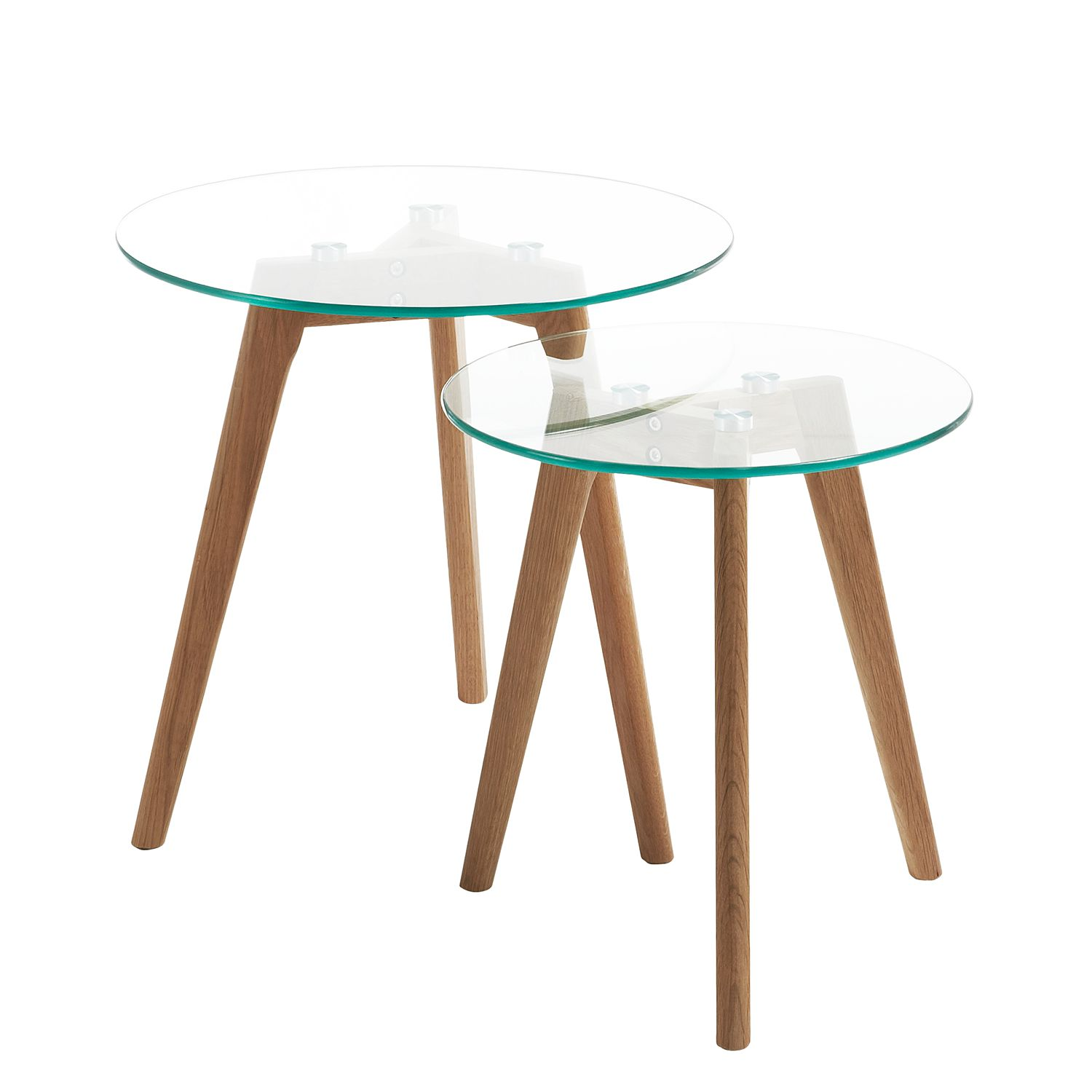 Table d'appoint Lingbo (lot de 2 chaises), Morteens
