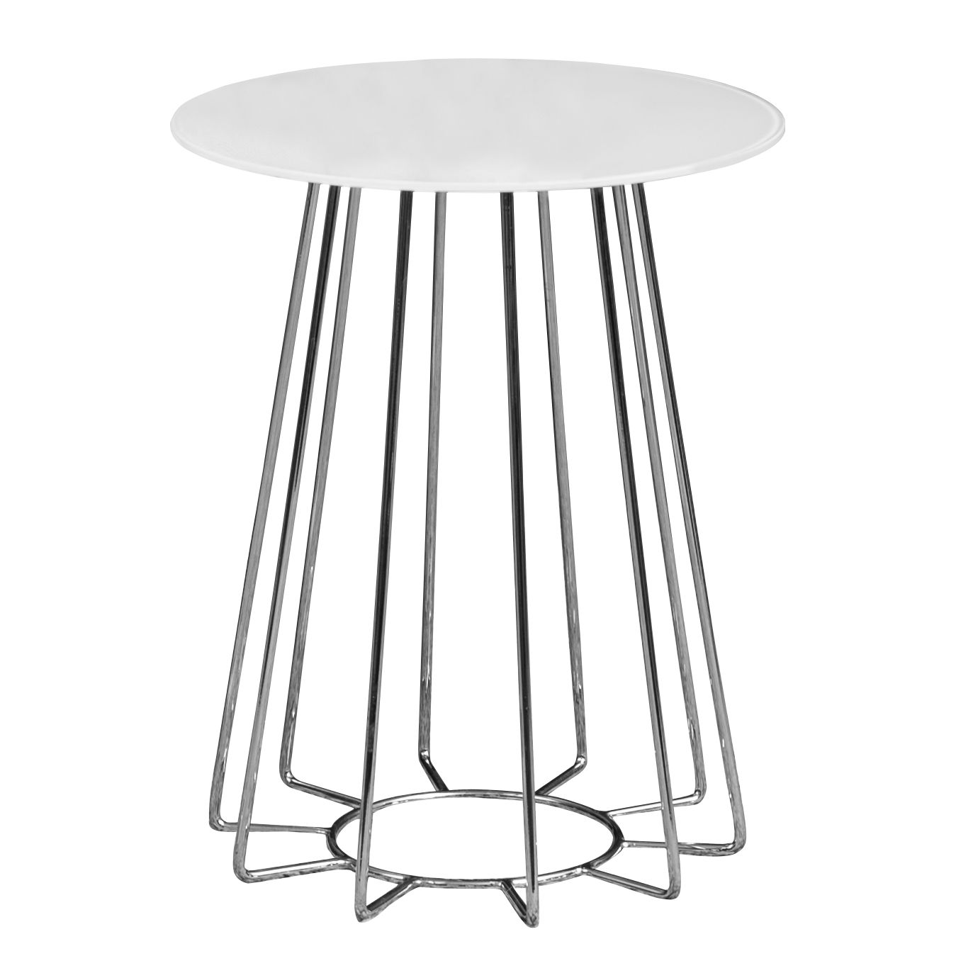 Table d'appoint Motegi - Blanc / Chrome, Jack and Alice