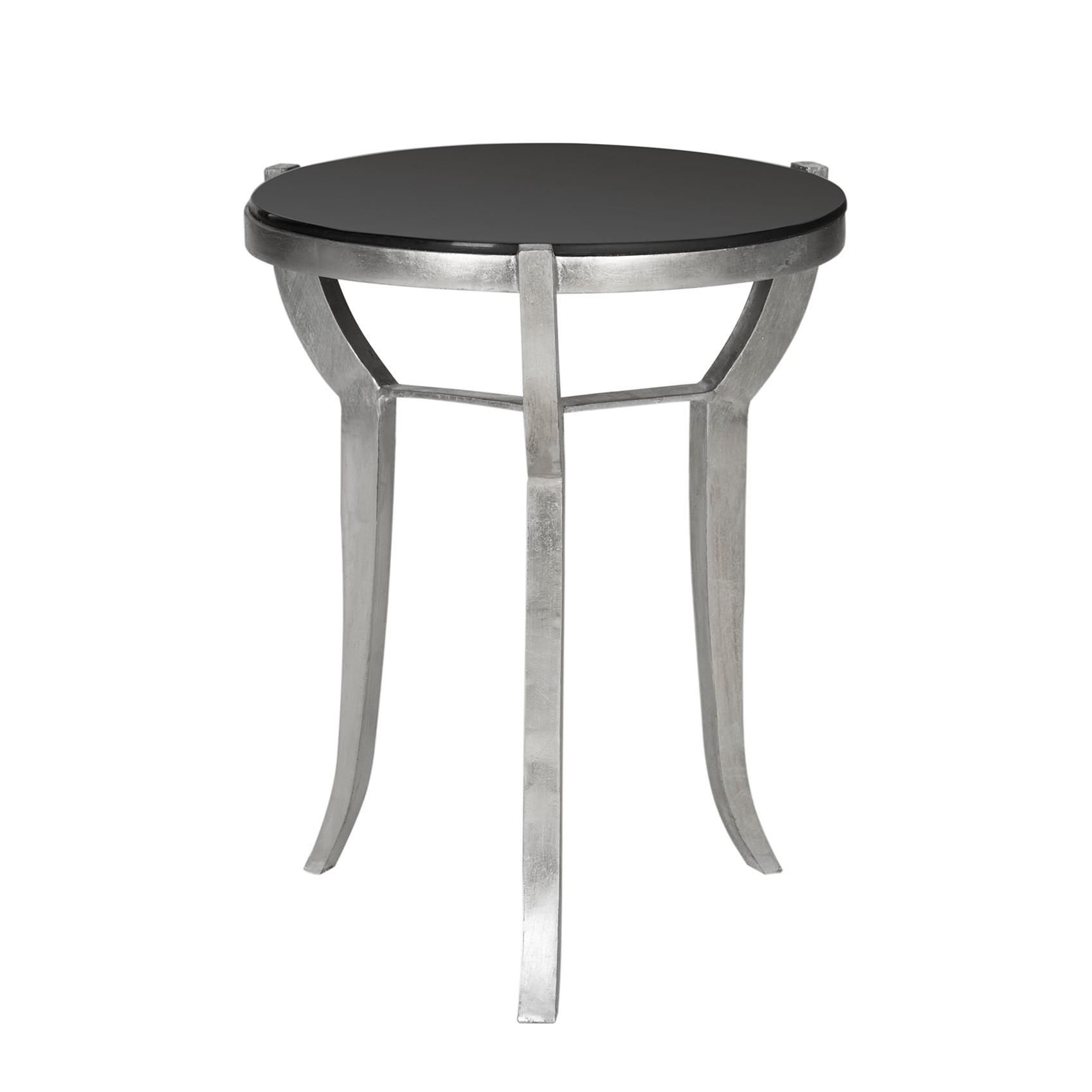 Tavolino Ormond - Ferro/Vetro Color argento/Nero, Safavieh