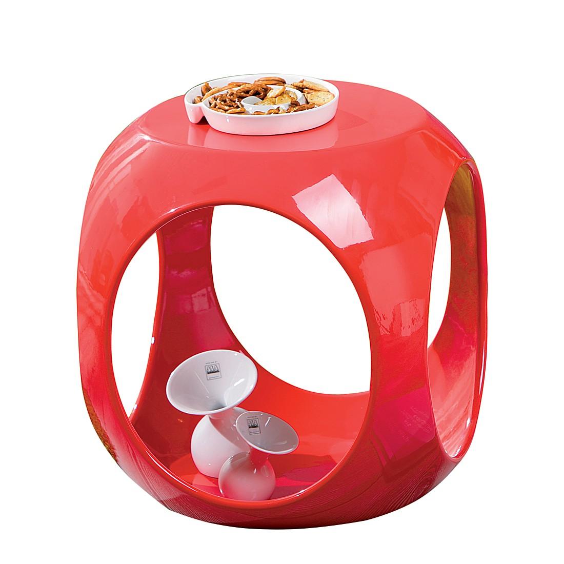 Tavolino Scoop - Rosso lucido, Studio Monroe