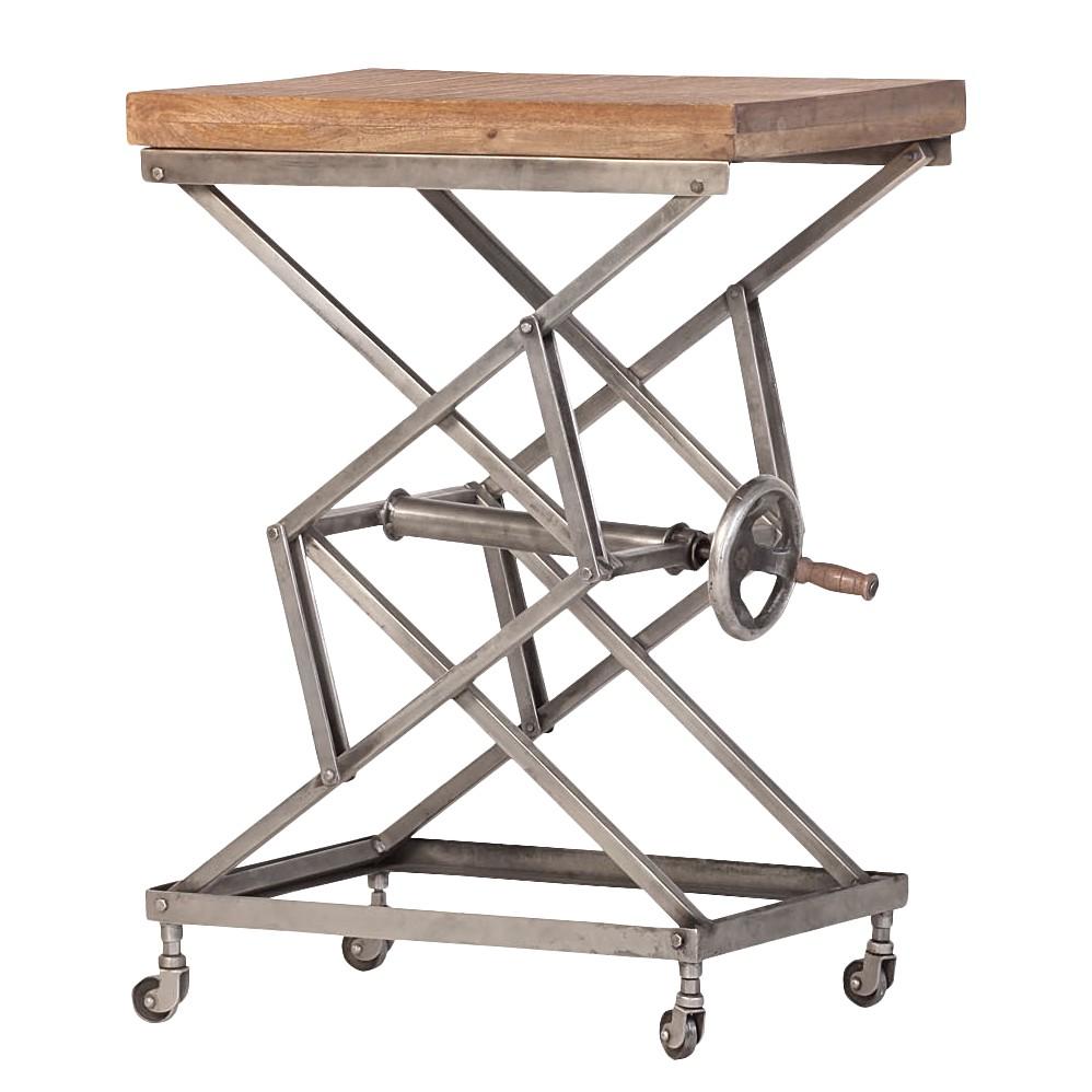 Table d'appoint Script - Manguier massif Teinté et verni (hauteur réglable), ars manufacti
