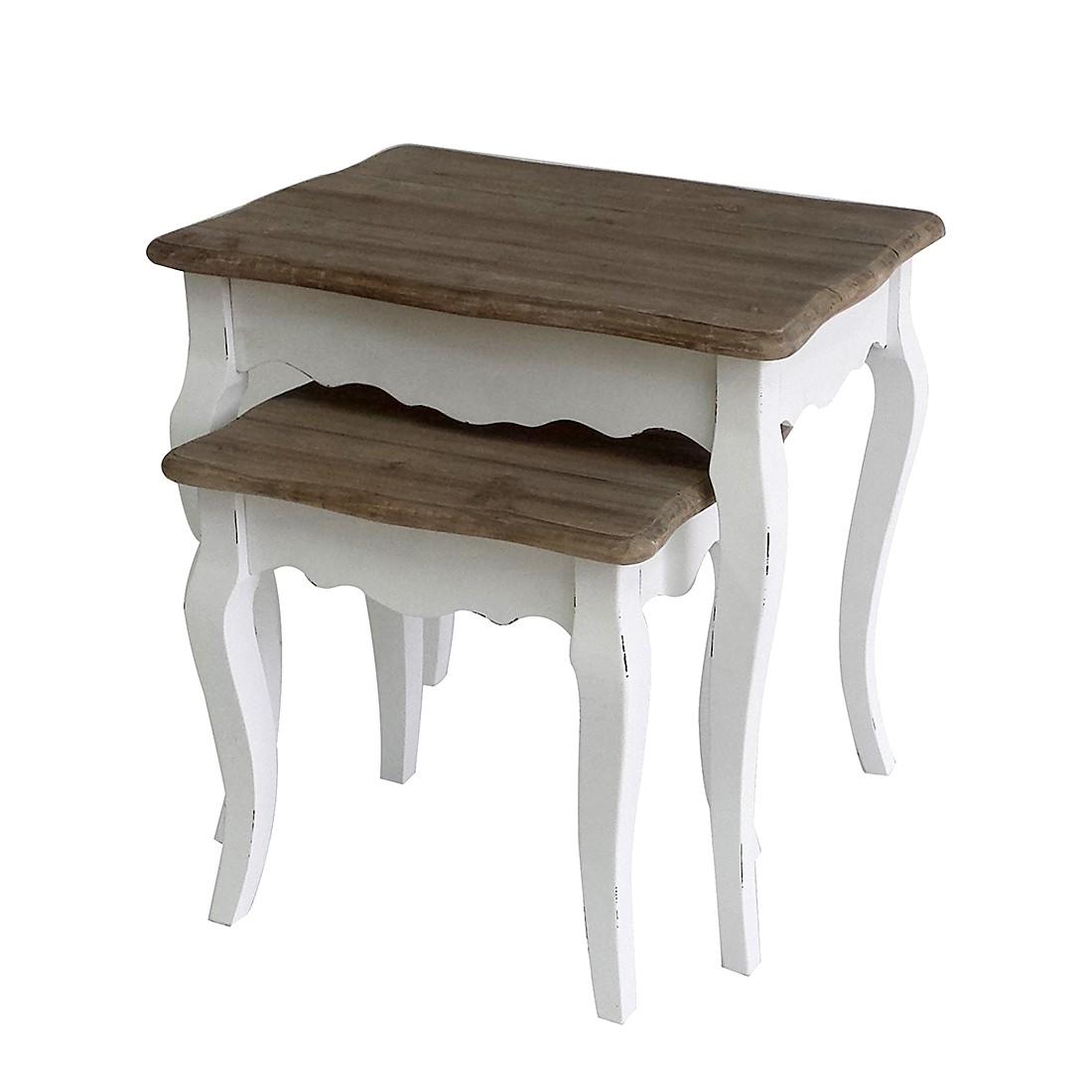 Set di tavoli d'appoggio Curvelo (2 pezzi) - Legno parzialmente massello paulonia, Maison Belfort