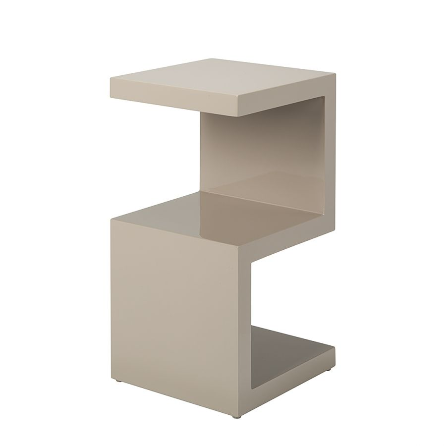 Table d'appoint Snake - Gris lava brillant, Fredriks