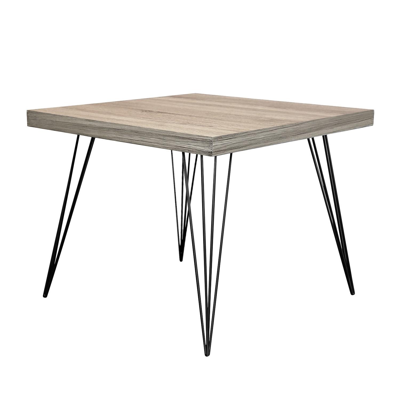 Tavolino Strut II - Parzialmente in legno massello di paulonia - Quercia bianco decapato / Nero, Jack and Alice