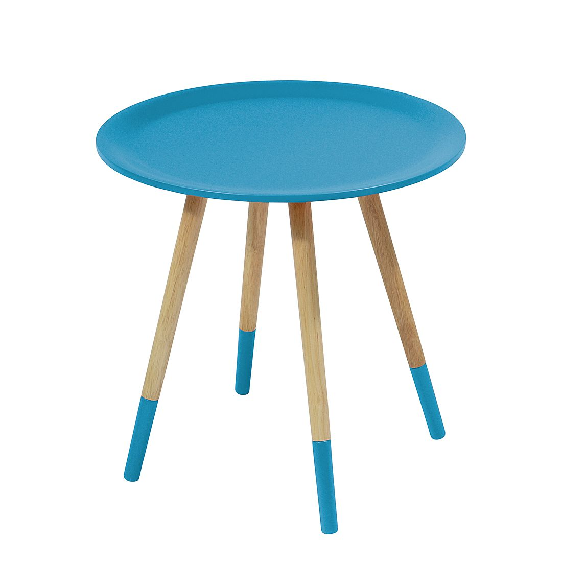 Home 24 - Table d appoint two tone - bleu, zuiver