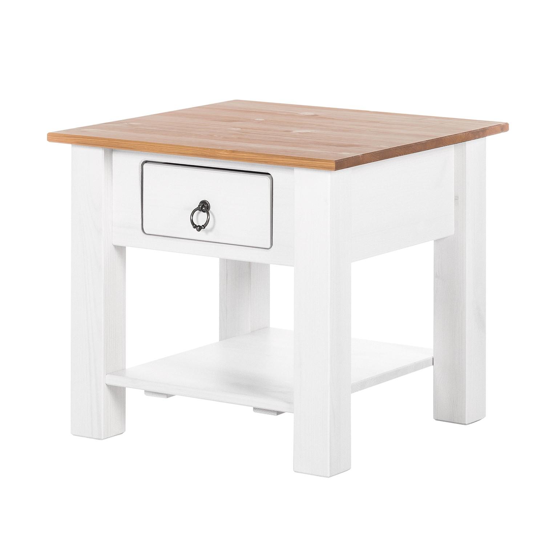 Tavolino Valmer - Legno massello di pino Bianco, Maison Belfort