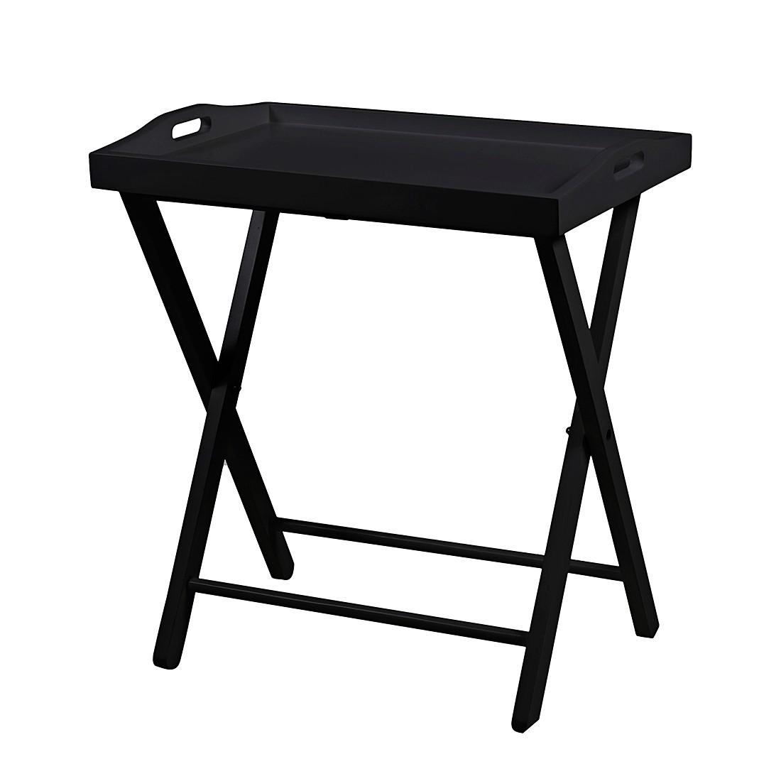 Image of Tavolino Vassia - Parzialmente legno di pino massello Nero, mooved