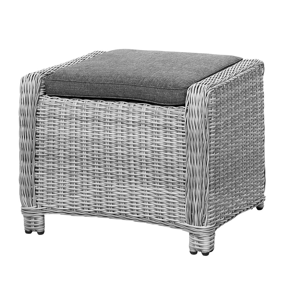 hocker sevilla polyrattan grau best freizeitm bel kaufen. Black Bedroom Furniture Sets. Home Design Ideas