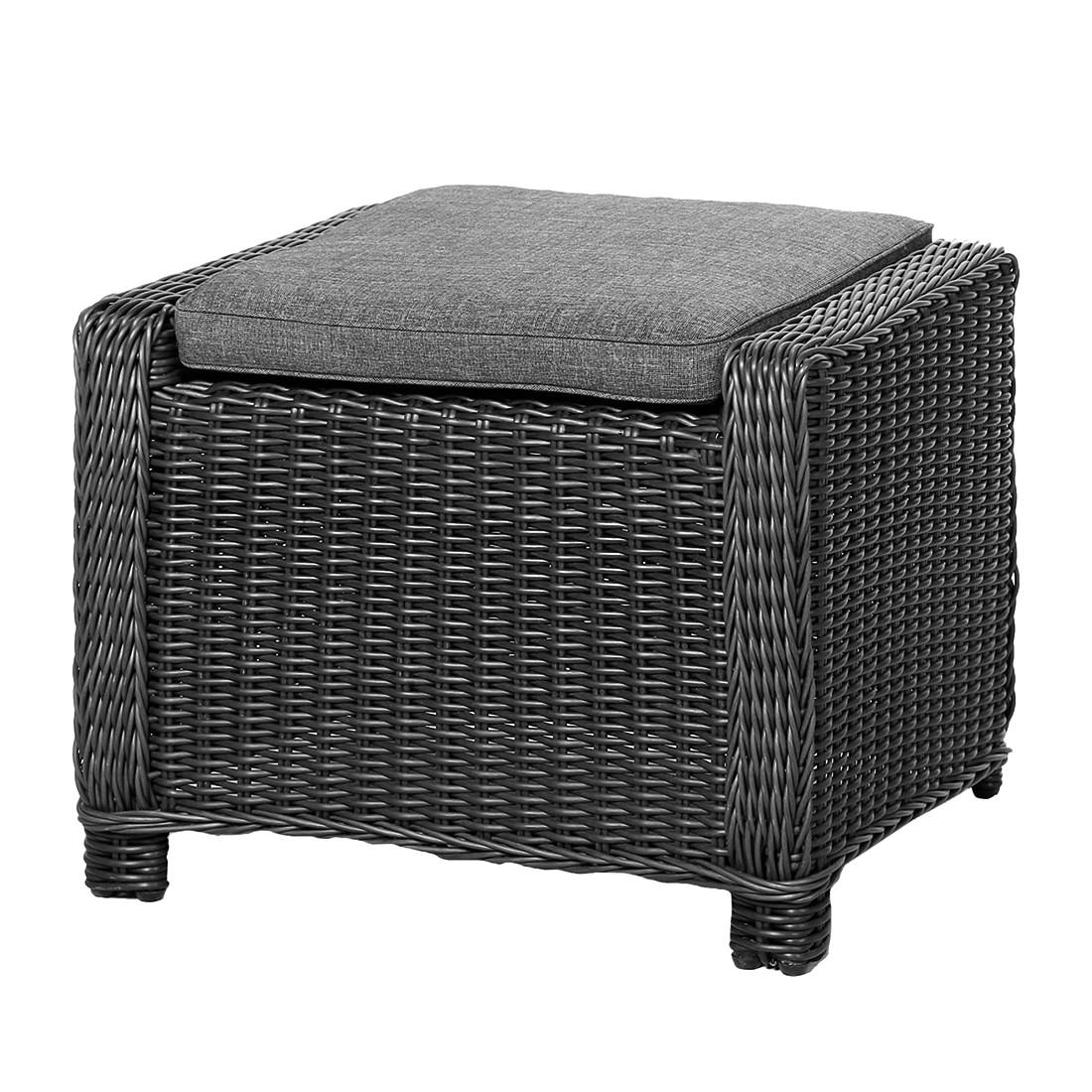 Home 24 - Tabouret sevilla - polyrotin graphite, best freizeitmöbel