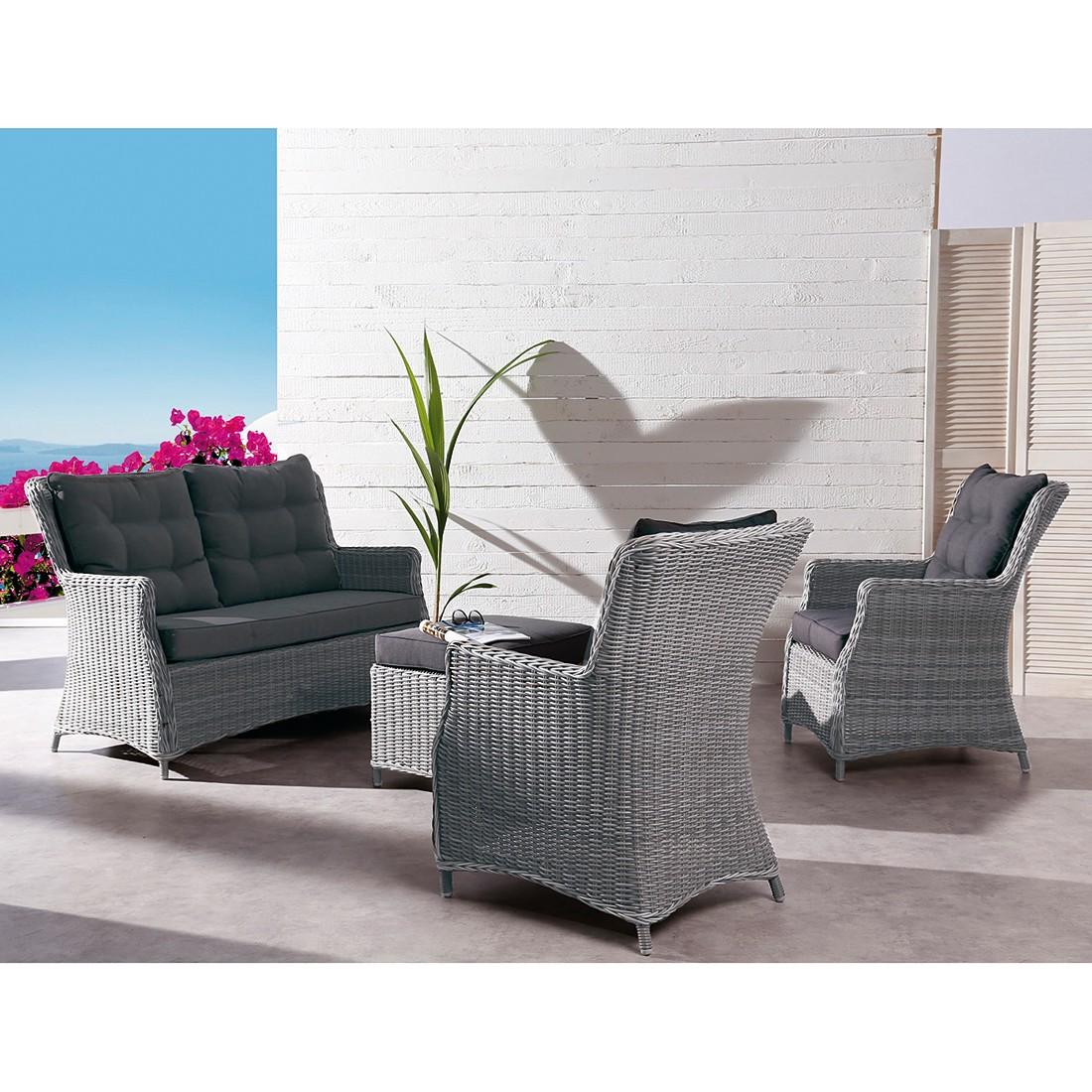 gartensofa barcelona i polyrattan grau best. Black Bedroom Furniture Sets. Home Design Ideas