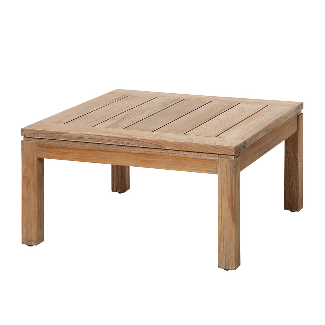 Home 24 - Table de jardin moretti ii - teck massif gris, best freizeitmöbel