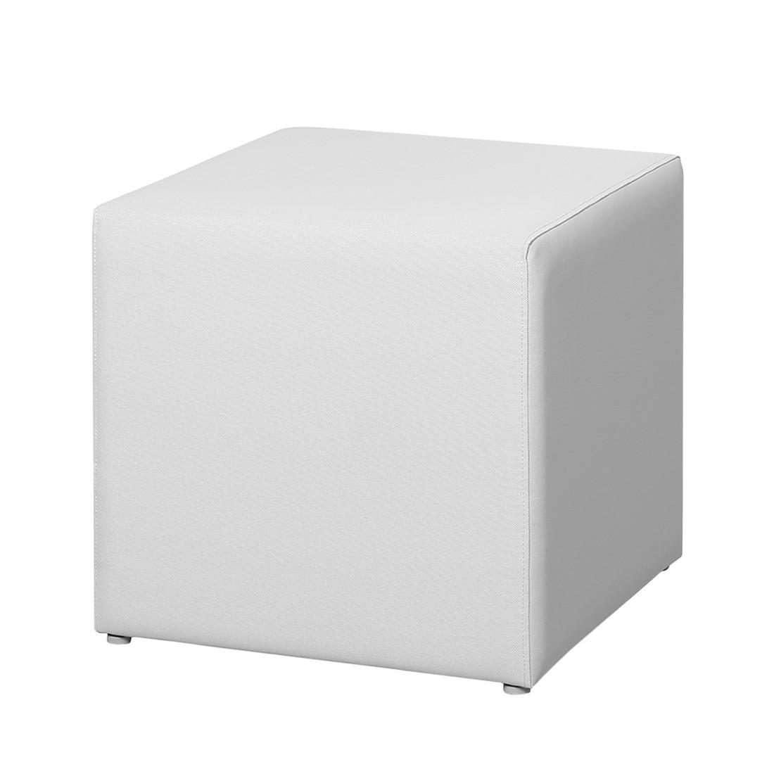 Home 24 - Tabouret kuba - ergotex blanc, best freizeitmöbel