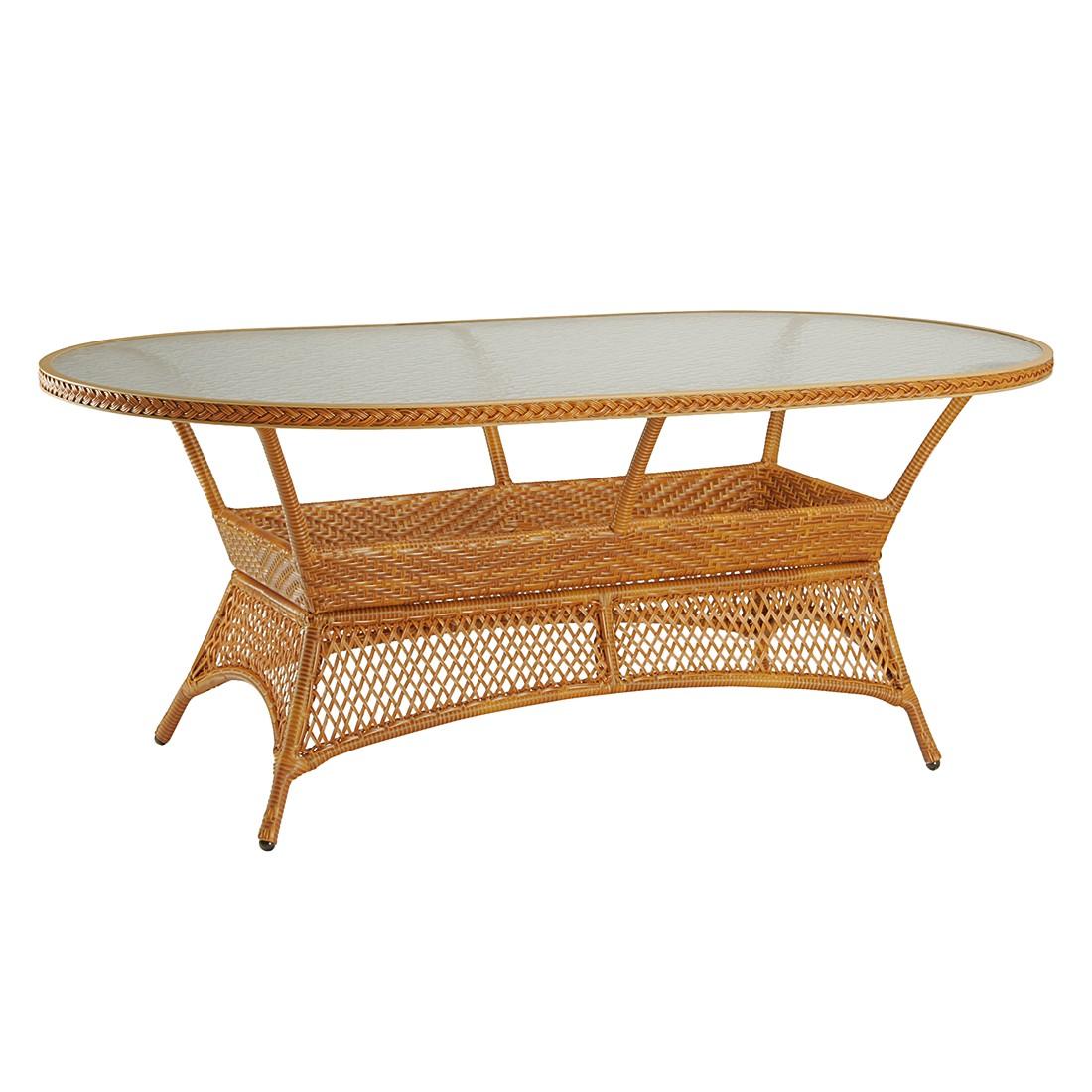 Gartentisch Madelene II - Polyrattan - Karamell, Best Freizeitmöbel
