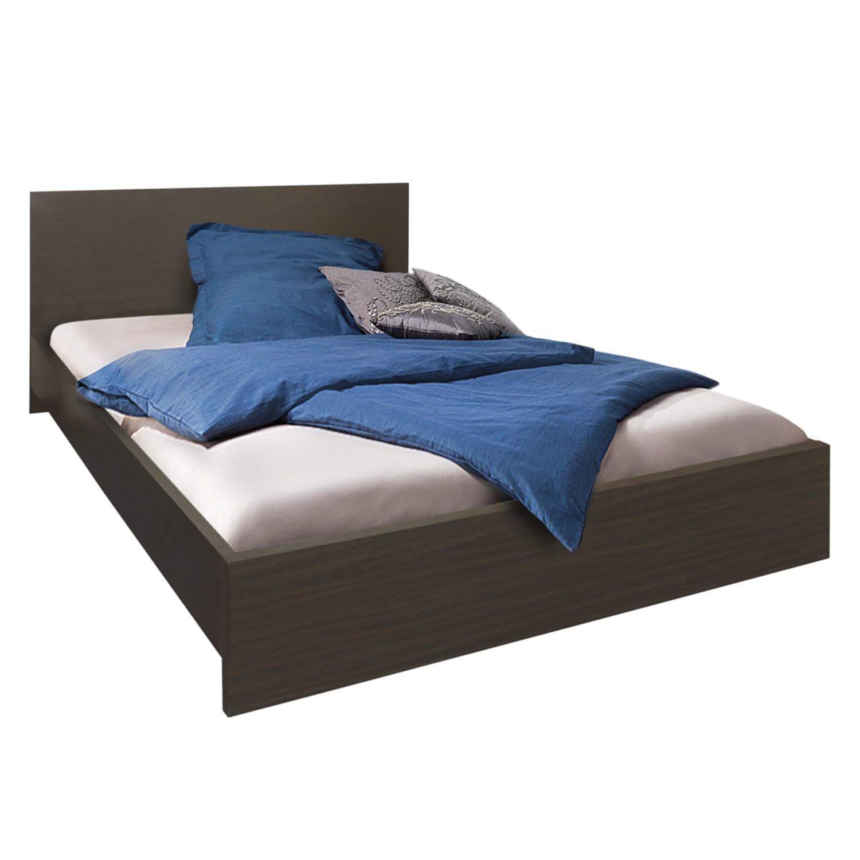 Bed Avoca - 140 x 200cm - Wengéhouten look, mooved