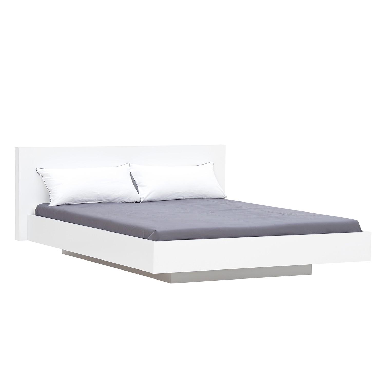 Bett Elodea - Weiß - 160 x 200cm - Weiß