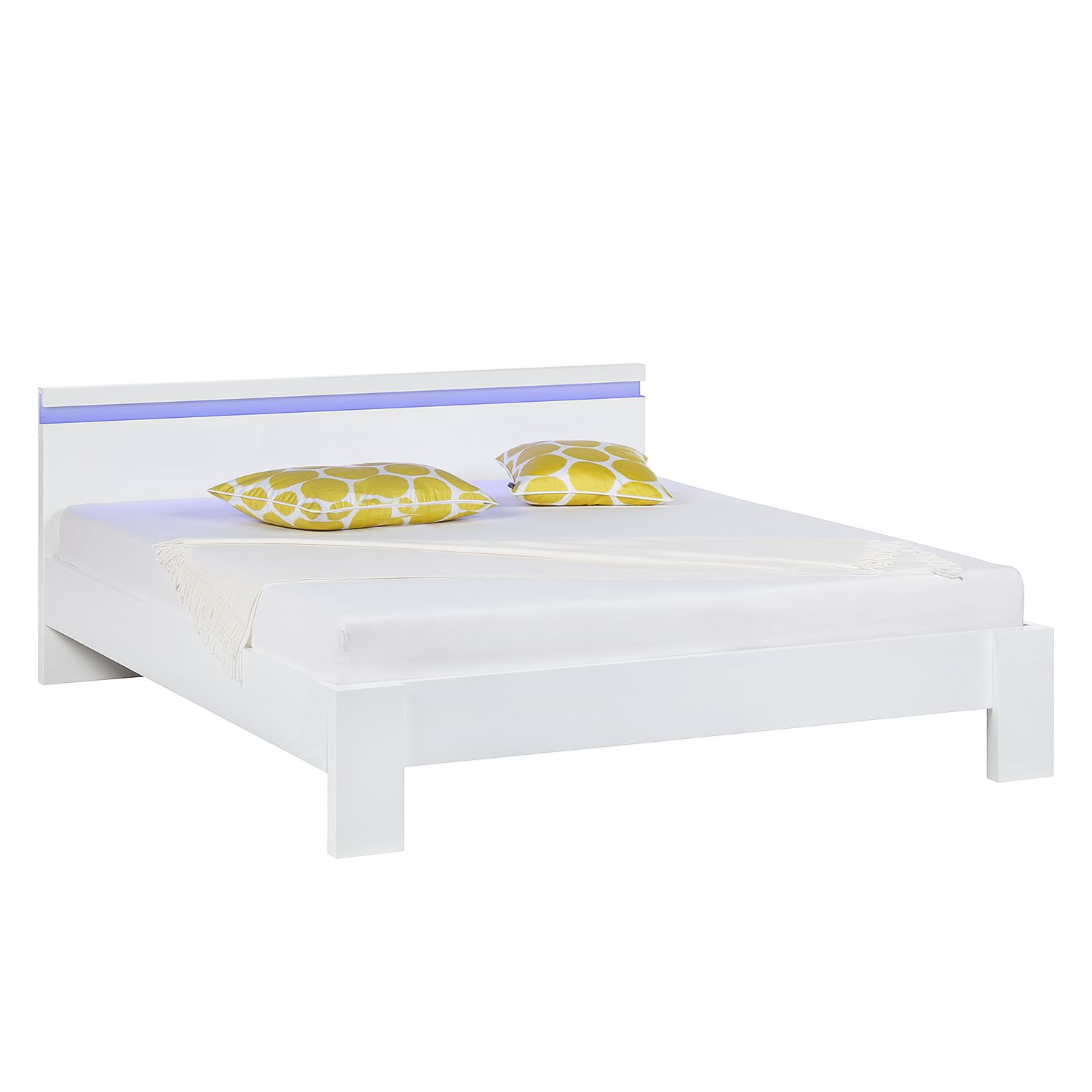 energie  A+, Bed Emblaze II - mat wit - LED-verlichting - 180 x 200cm, Fredriks