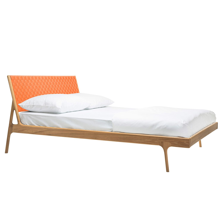 Bett Fawn II - Eiche massiv - 160 x 200cm - Eiche - Apricot