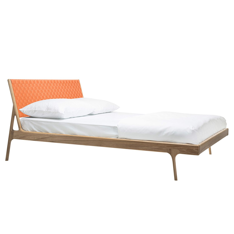 Bett Fawn II - Eiche massiv - 160 x 200cm - Eiche Hell - Apricot