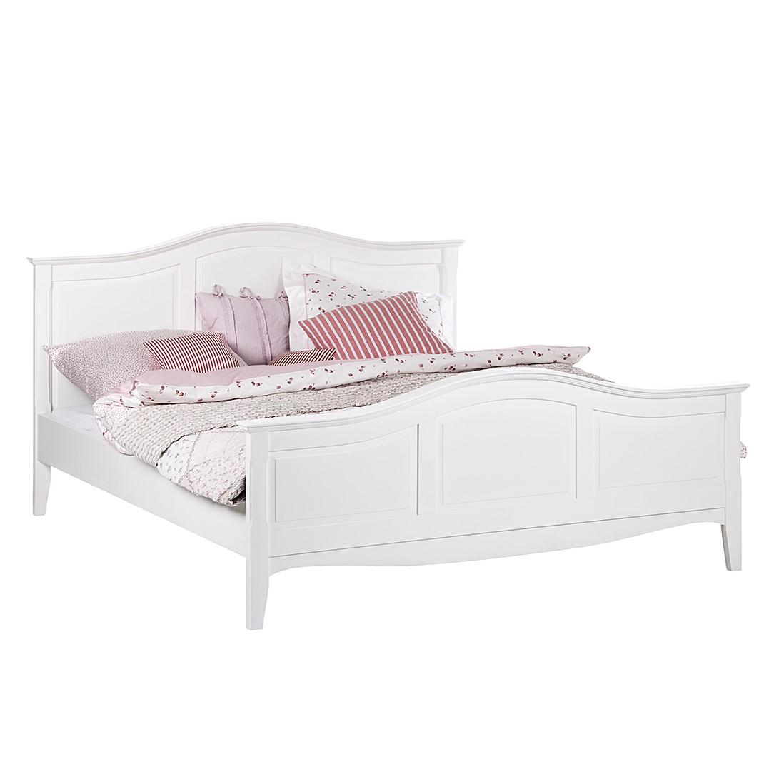 Bett weiß 160x200 landhaus  Bett aus der Serie Giselle in Weiß (140 x 200 cm) | home24