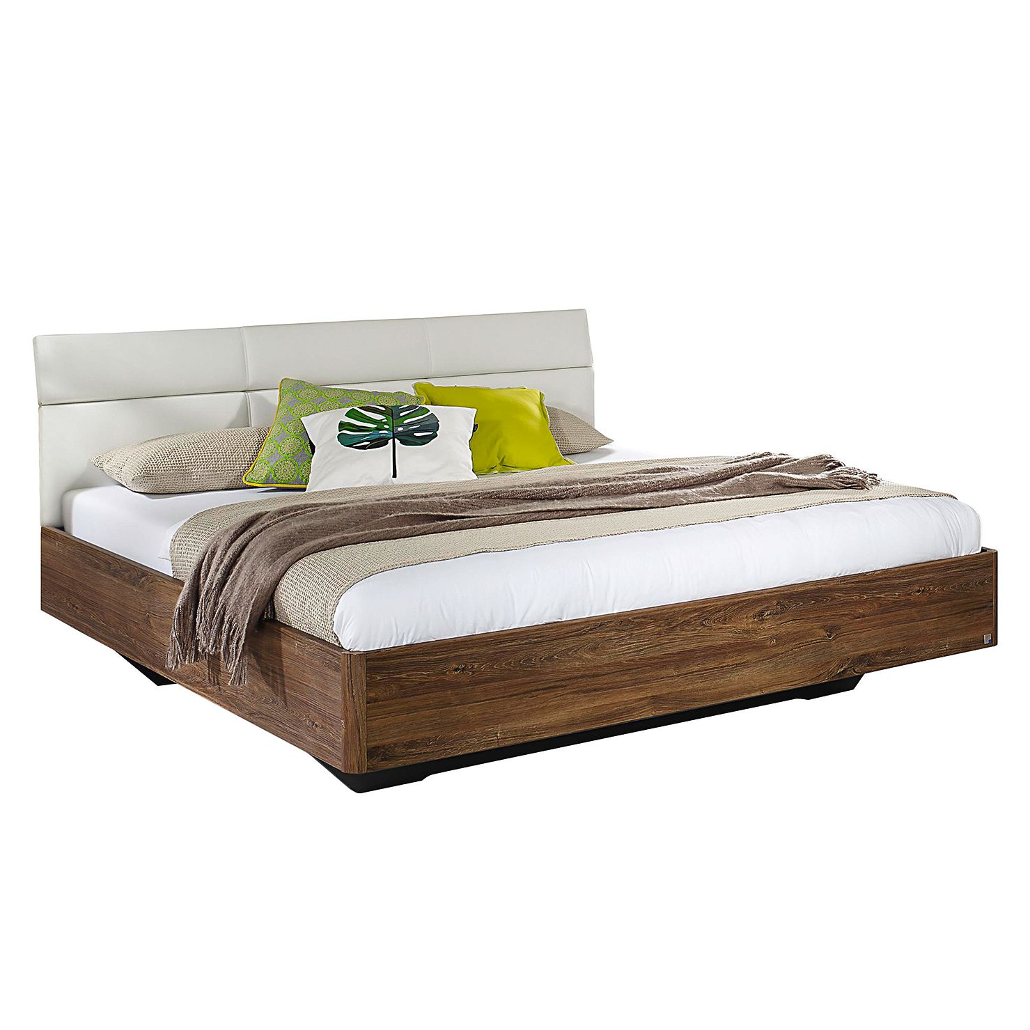 Bed Kelheim - 180 x 200cm - Stirling eikenhouten look/Alpinewit, Rauch Packs