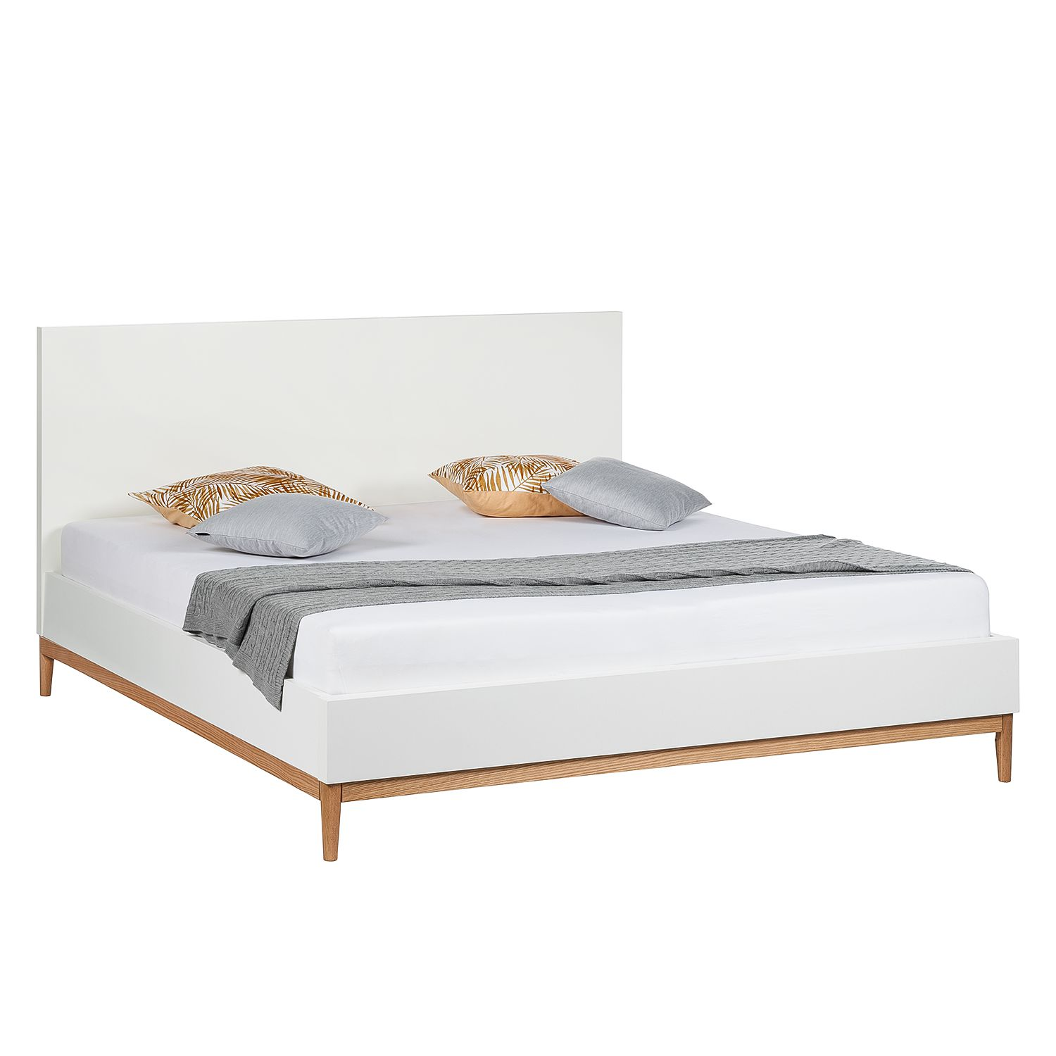 Bed Lindholm I - mat wit - 180 x 200cm, Morteens