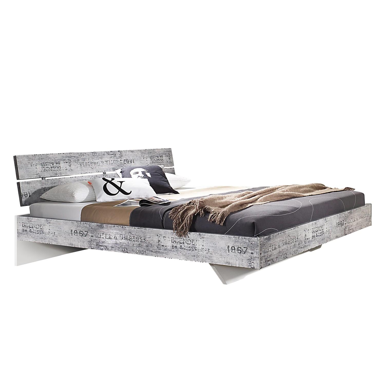 Lit Sumatra - 160 x 200cm - Gris vintage / Blanc, Rauch Select