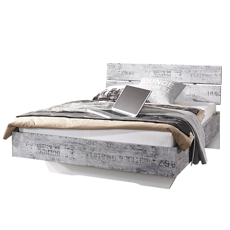 Lit Sumatra - 120 x 200cm - Gris vintage / Blanc, Rauch Select