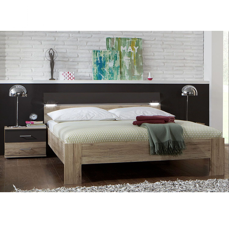 Ensemble de chambre à coucher Saxman I (3 éléments) - Imitation chêne San Remo / Gris lave, Wimex