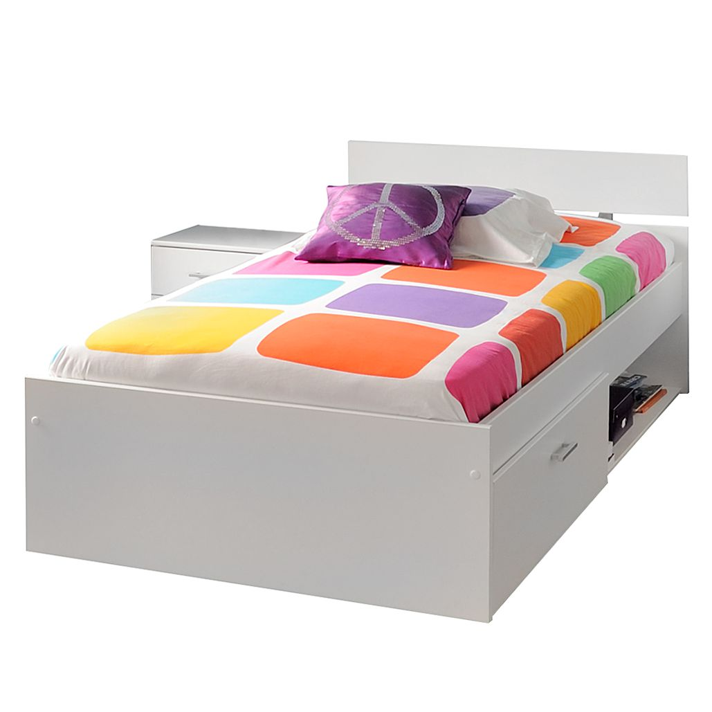 Bed Infinity (2-delige set) - wit, Parisot Meubles
