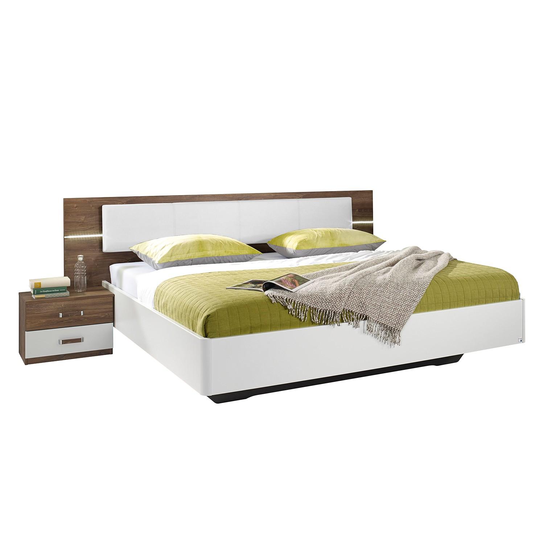 EEK A+, Ensemble de chambre à coucher Leimen - 160 x 200cm - Blanc / Imitation chêne, Rauch Packs