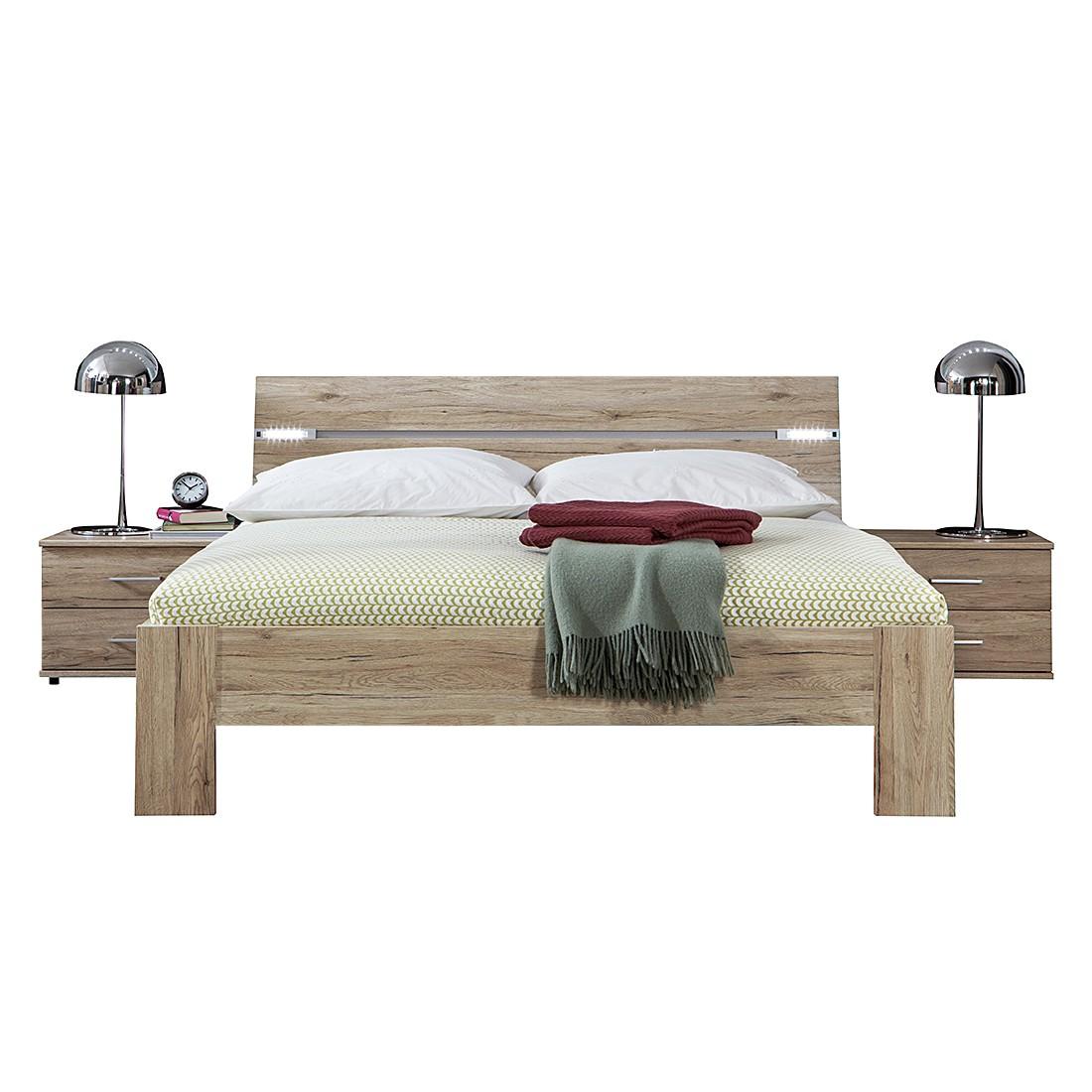 Combinaison de chambre à coucher Saxman (3 éléments) - Imitation chêne de San Remo - Surface de couc