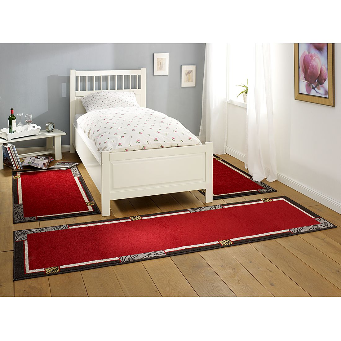 descente de lit lectus i rouge hanse home collection
