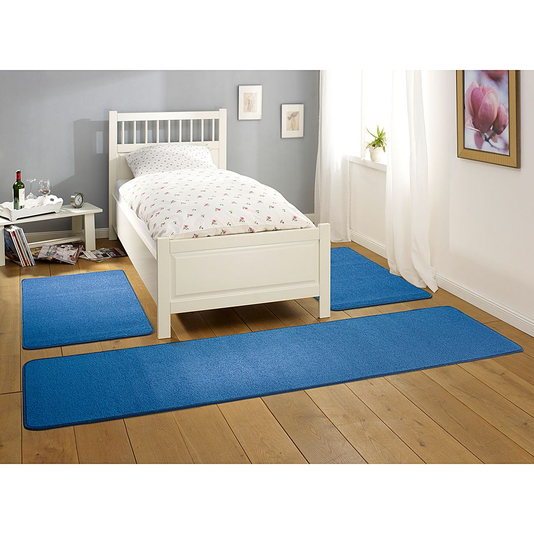 Tapis de lit Nasty - Bleu, Hanse Home Collection