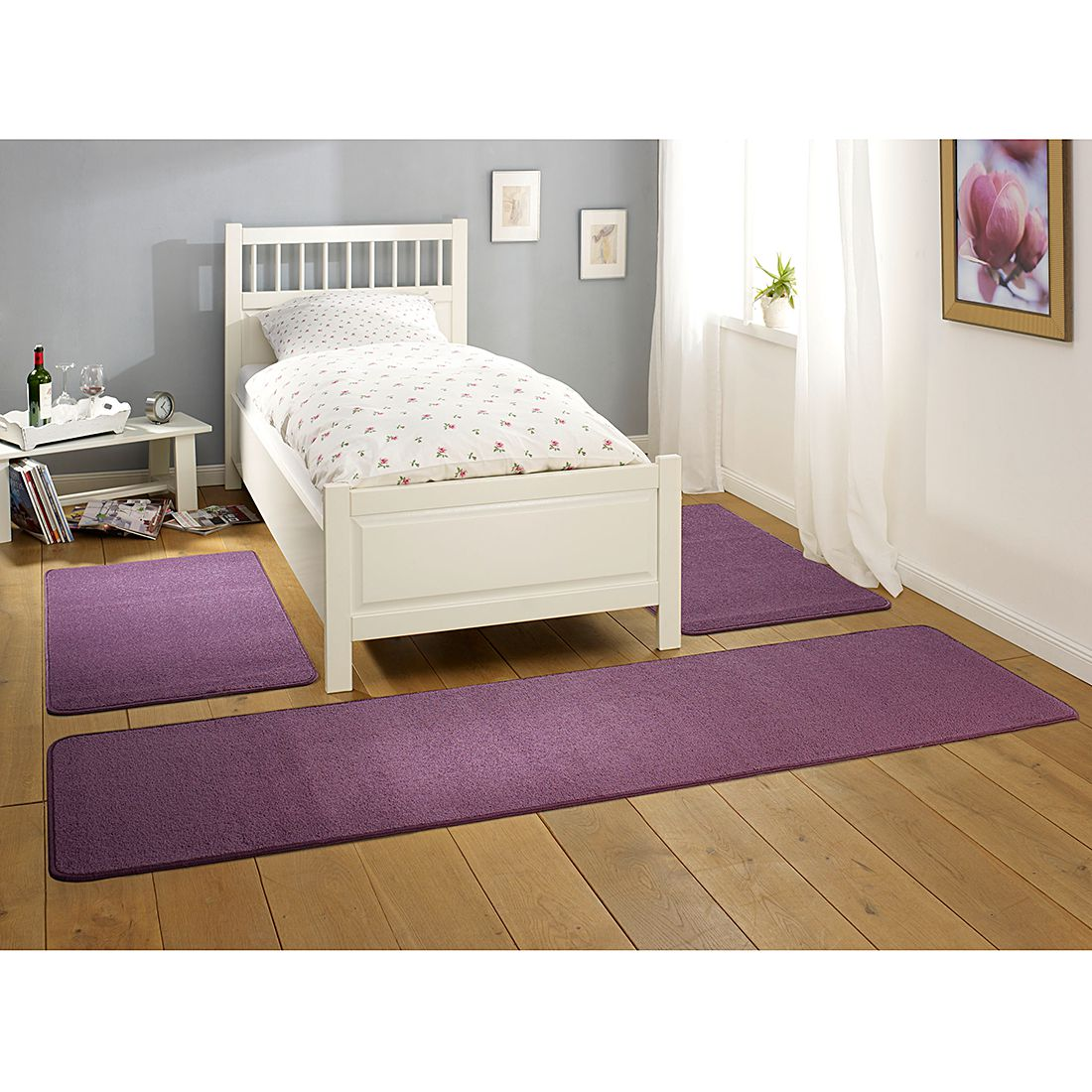 Tapis de lit Nasty - Violet, Hanse Home Collection