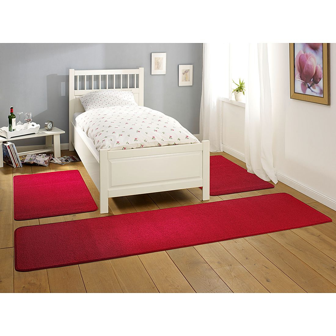 Tapis de lit Nasty - Rouge, Hanse Home Collection