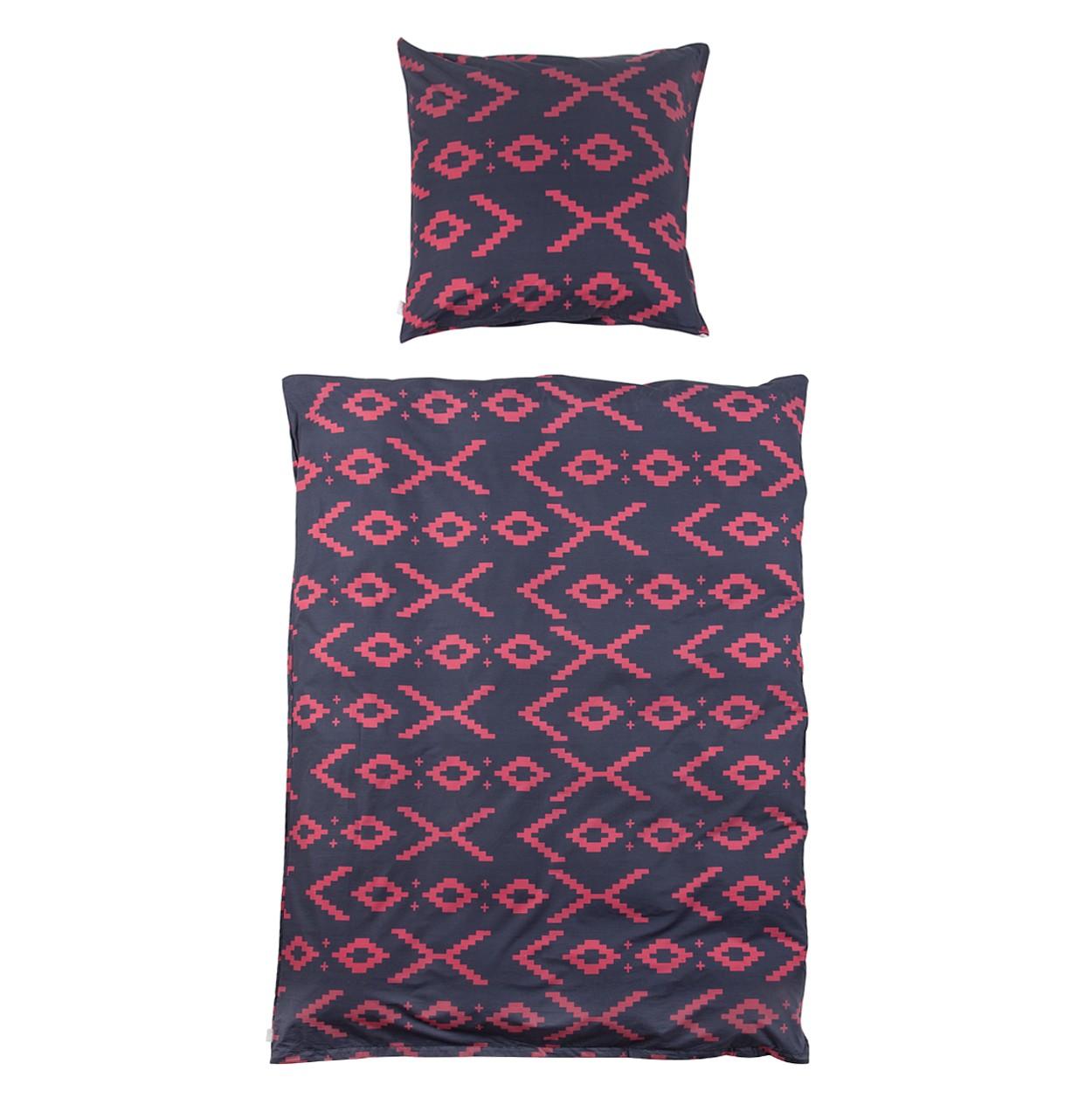Beddengoed Balsas - zwart/roze - 155x220cm + kussen 80x80cm, Eva Padberg Collection