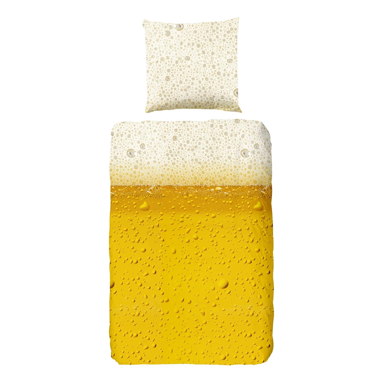 Beddengoed Beer - katoen - geel/crèmewit, Good morning
