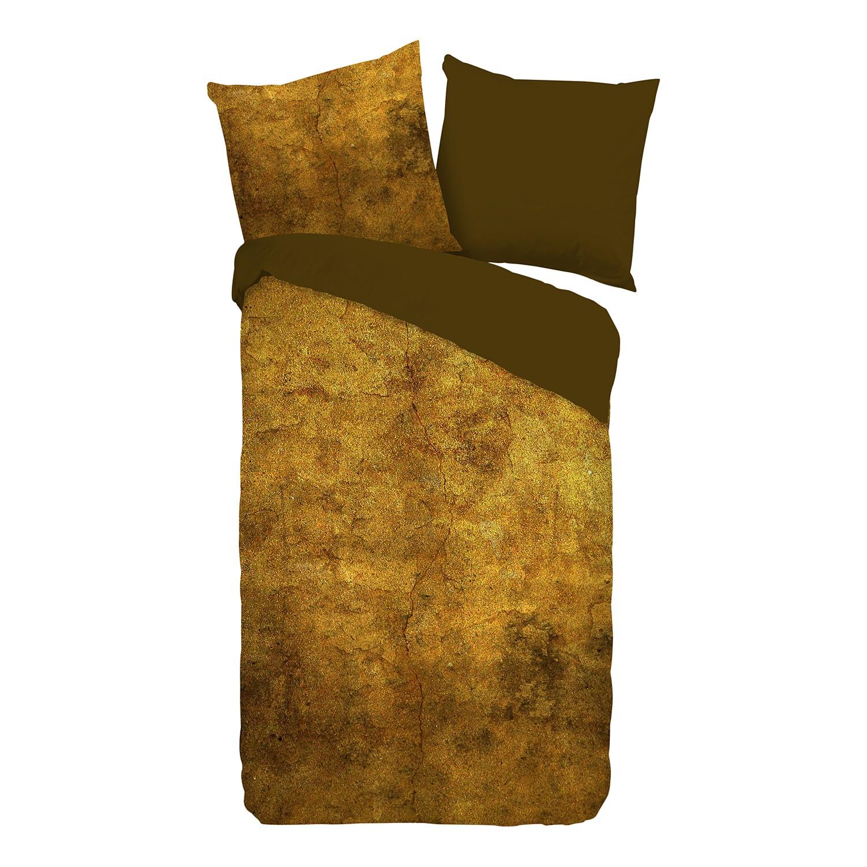 Beddengoed Bronzed- satijn - bronskleurig/bruin - 135x200cm + kussen 80x80cm, Descanso